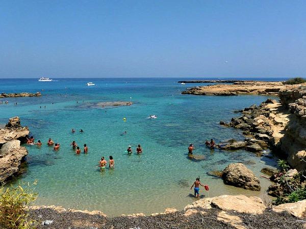 De kust bij Protaras