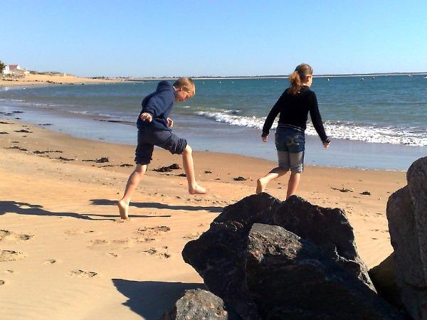 Kinderen op het strand van La Tranche sur Mer
