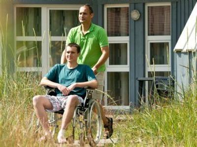 Aangepaste huisjes gehandicapten