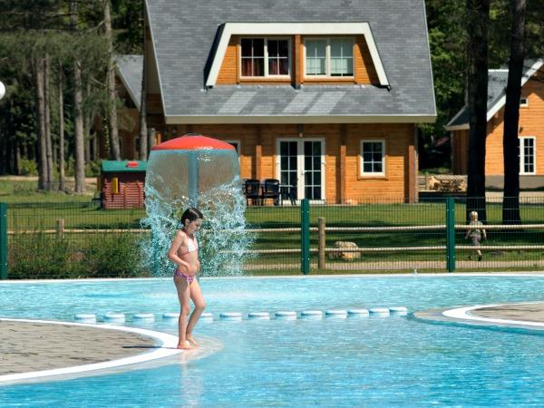 Buitenzwembad en huisjes van Landal Mooi Zutendaal