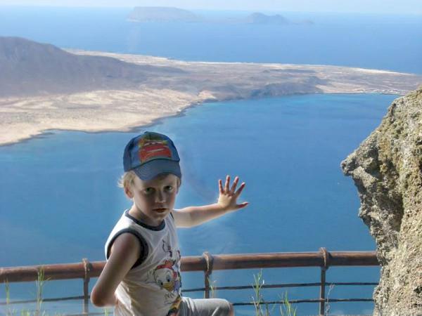Uitzicht vanaf het Noordelijke puntje van Lanzarote