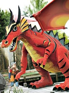 De draak van Lego in Legoland