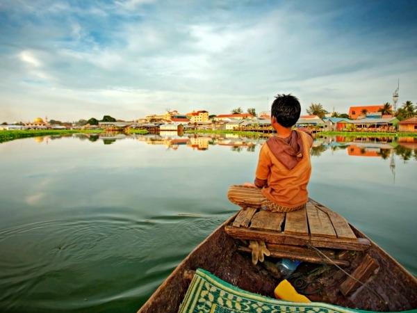 Het prachtige Tonle Sap meer in Cambodja