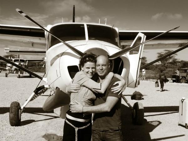 Marleen en Robby in Tanzania