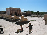 Bij de filmstudio's in Marokko