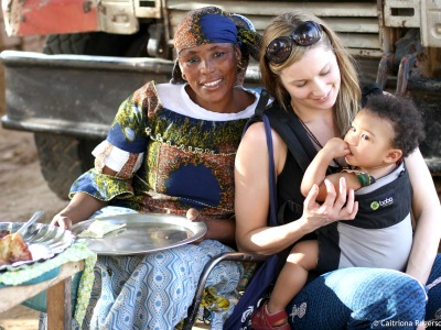 De Afrikaanse bevolking houdt van kinderen