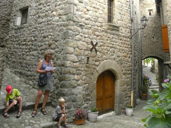 Verdwaald in de middeleeuwse straatjes...