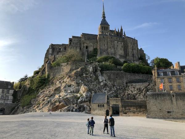 Het beroemde Mont Saint Michel in Normandië