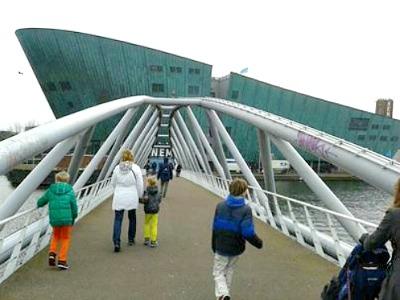 Op weg naar Nemo in Amsterdam