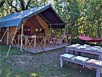 kamperen in safaritent
