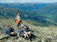 Genieten van het uitzicht in de Noorse bergen