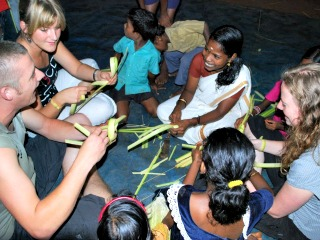 Samen offers maken in India