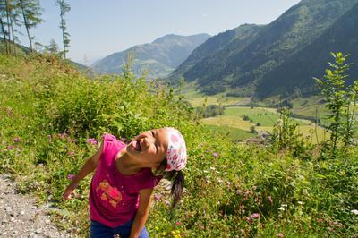 Onze dochter loopt in Oostenrijk