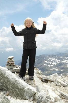 Boven op de berg!