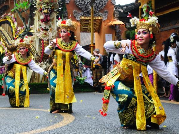 Dansers in Ubud