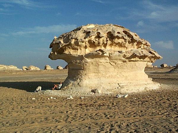 Kalkformatie in de witte woestijn