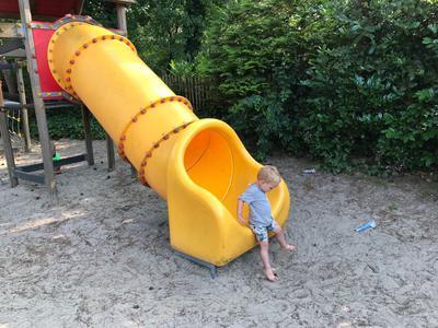 Een leuke speeltuin zodat we er geen kind aan hebben