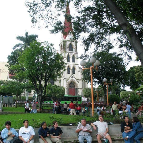 Typisch parkje in San José