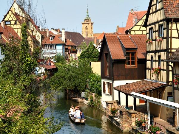 Het mooie dorp Colmar in de Elzas