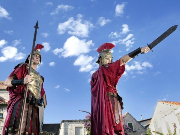 Ontmoet de Romeinse legionairs in Rome