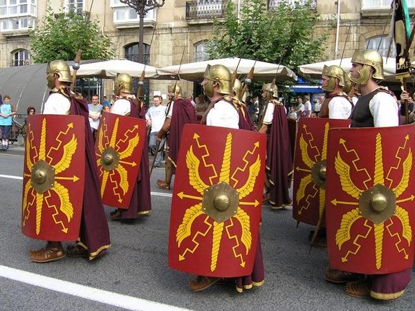 Romeinen in de straat