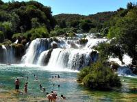 De Krka watervallen in Kroatië