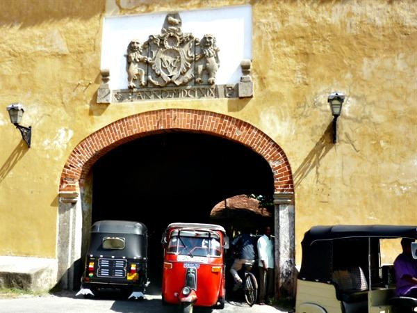 Poort van het fort in Galle