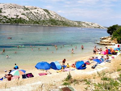 Pudarica strand op Rab in Kroatië