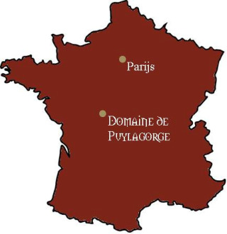 Puylagorge op de kaart van Frankrijk