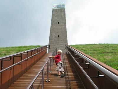 We beklimmen de pyramide van Austerlitz