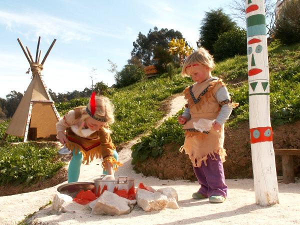 Het indianendorp bij Quinta Laranja