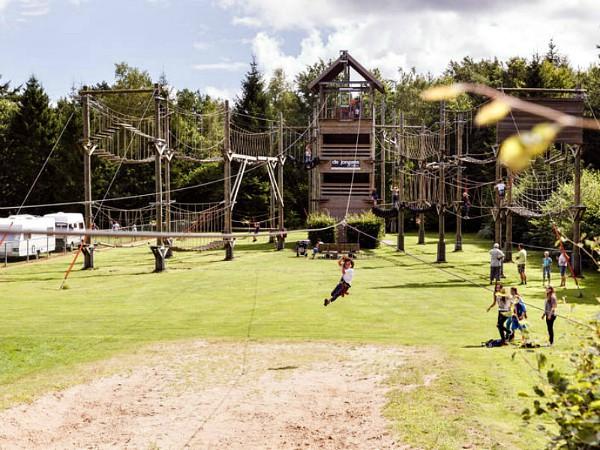 Klimpark op het vakantiepark