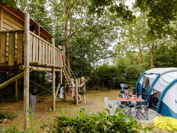 Boomhut bij je kampeerplek