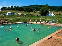 Het zwembad bij één van de campings in Tsjechië