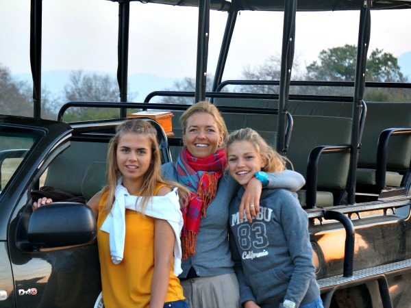 Reisspecialist Leonie met haar dochters in Zuid-Afrika
