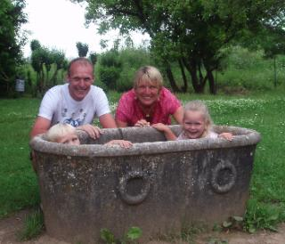 Even lekker in een Romeinse badkuip