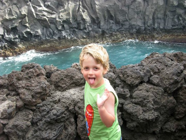 Vulkanisch gesteente op Lanzarote