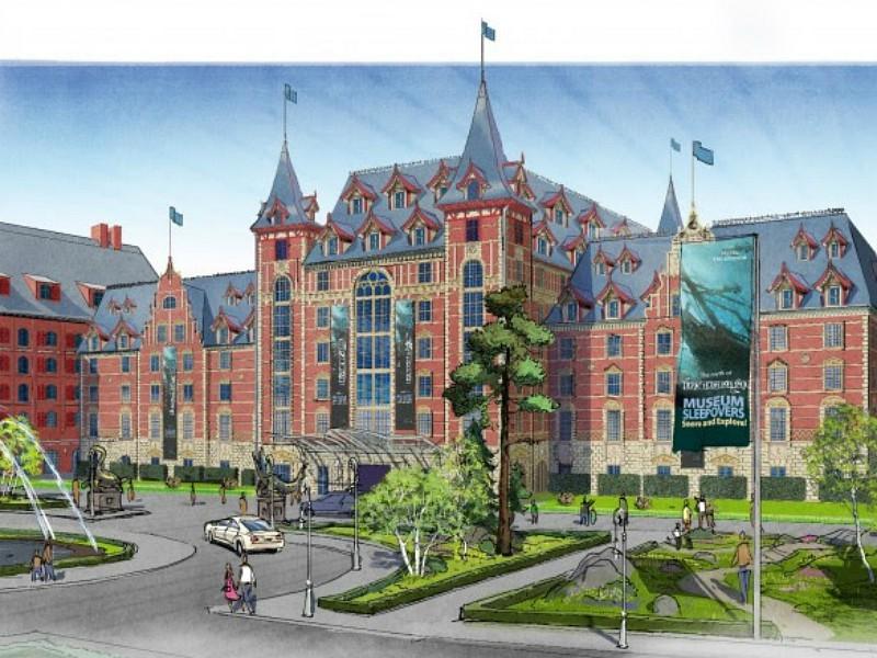 tekening van het 'Krønåsar -The Museum Hotel'