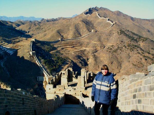 Wij beklommen de Chinese Muur in de winter