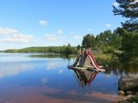Prachtige natuur bij het Safsen Resort in Zweden