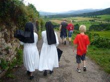 met de nonnen op retraite