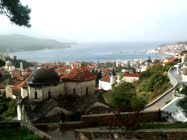Uitzicht vanuit Samos-stad
