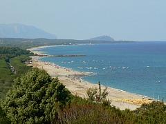 Het strand van Sardinie