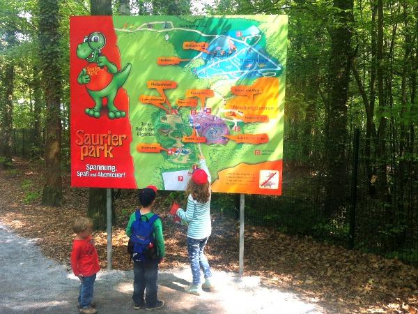 Waarheen in het Saurierpark Kleinwelka?