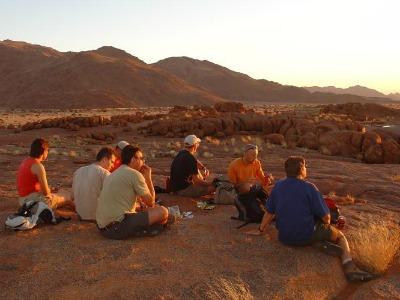 Genieten van het uitzicht in Namibië