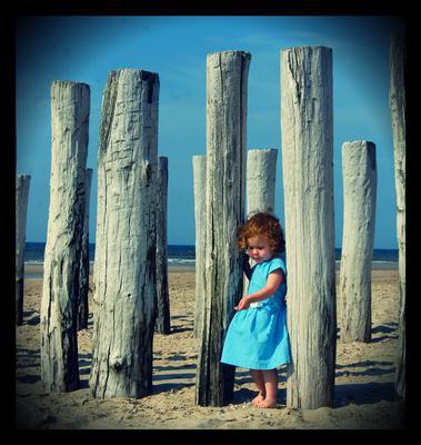 Schelpjes zoeken op het strand van Domburg