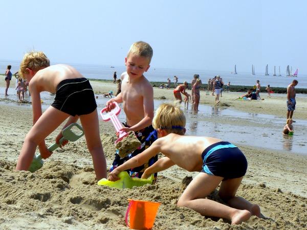 Lekker scheppen op het Hollandse strand