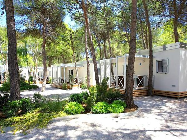 De appartementen van het Sira Resort liggen tussen de bomen