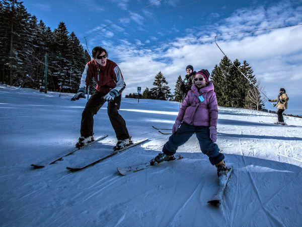 Het Metabief skigebied in de Jura