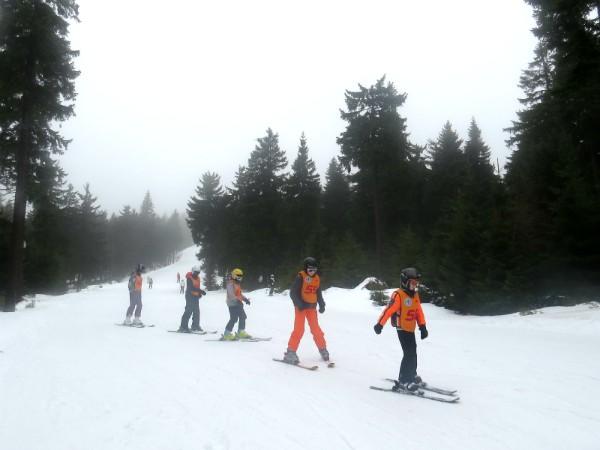 Skiklasje met Zeb en Tycho in Klinovec
